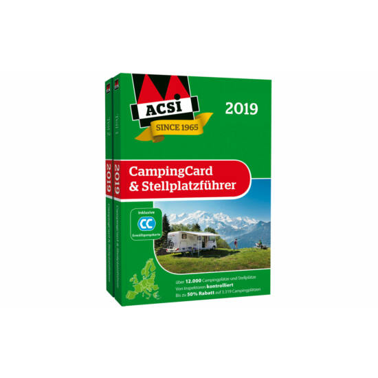 Catalog camping ACSI Europa 2019 +card